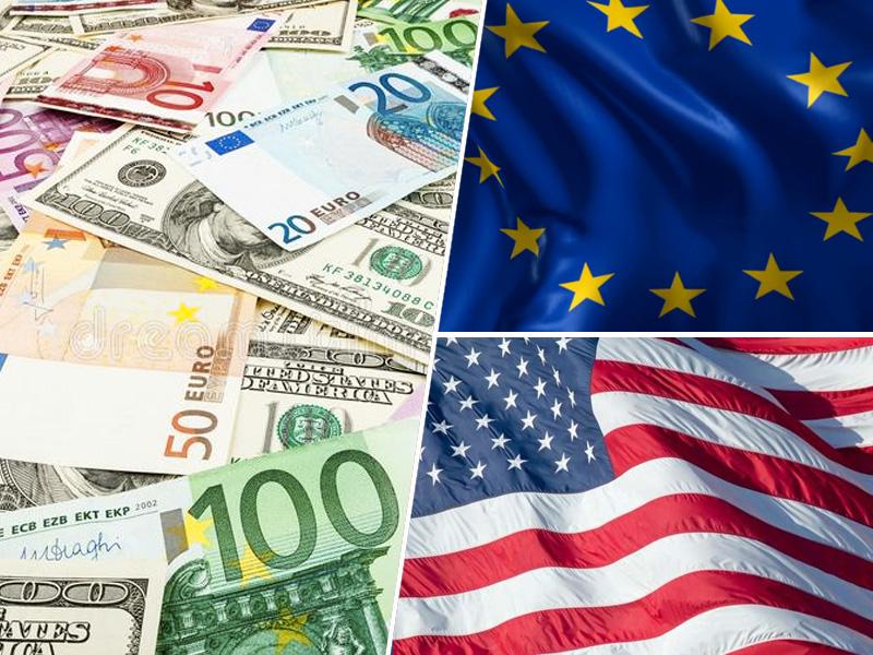 Dolar, euro / ZDA in EU