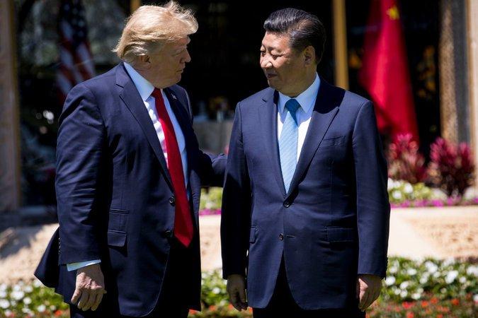 Donald Trump in Kitajski predsednik Xi Jinping