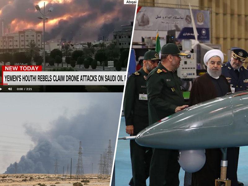 Droni - Savdska Arabija, Jemen in Iran