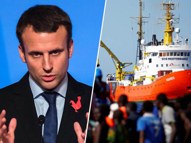 Emmanuel Macron in migranti