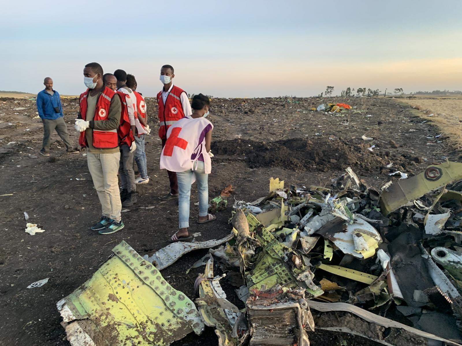 Mesto nesreče etiopskega boeinga 737 MAX 8 Vir:Pixsell