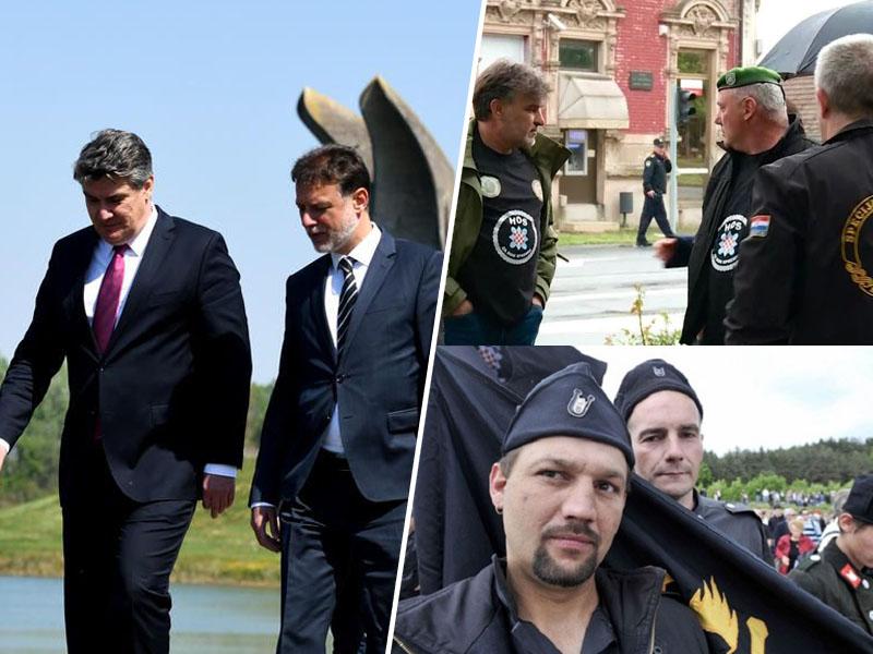 Milanović in pripadniki HOS-a