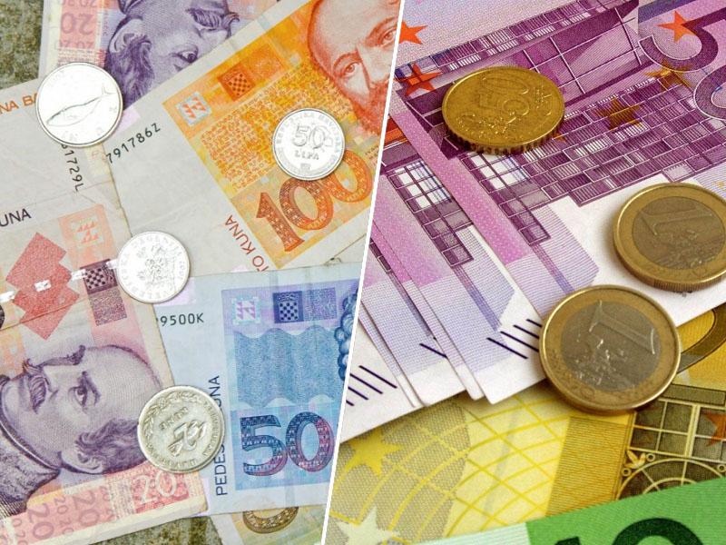 Hrvaška Kuna in euro