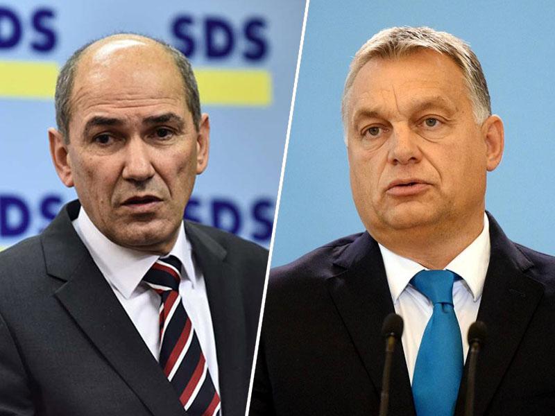 Janez Janša in Viktor Orban