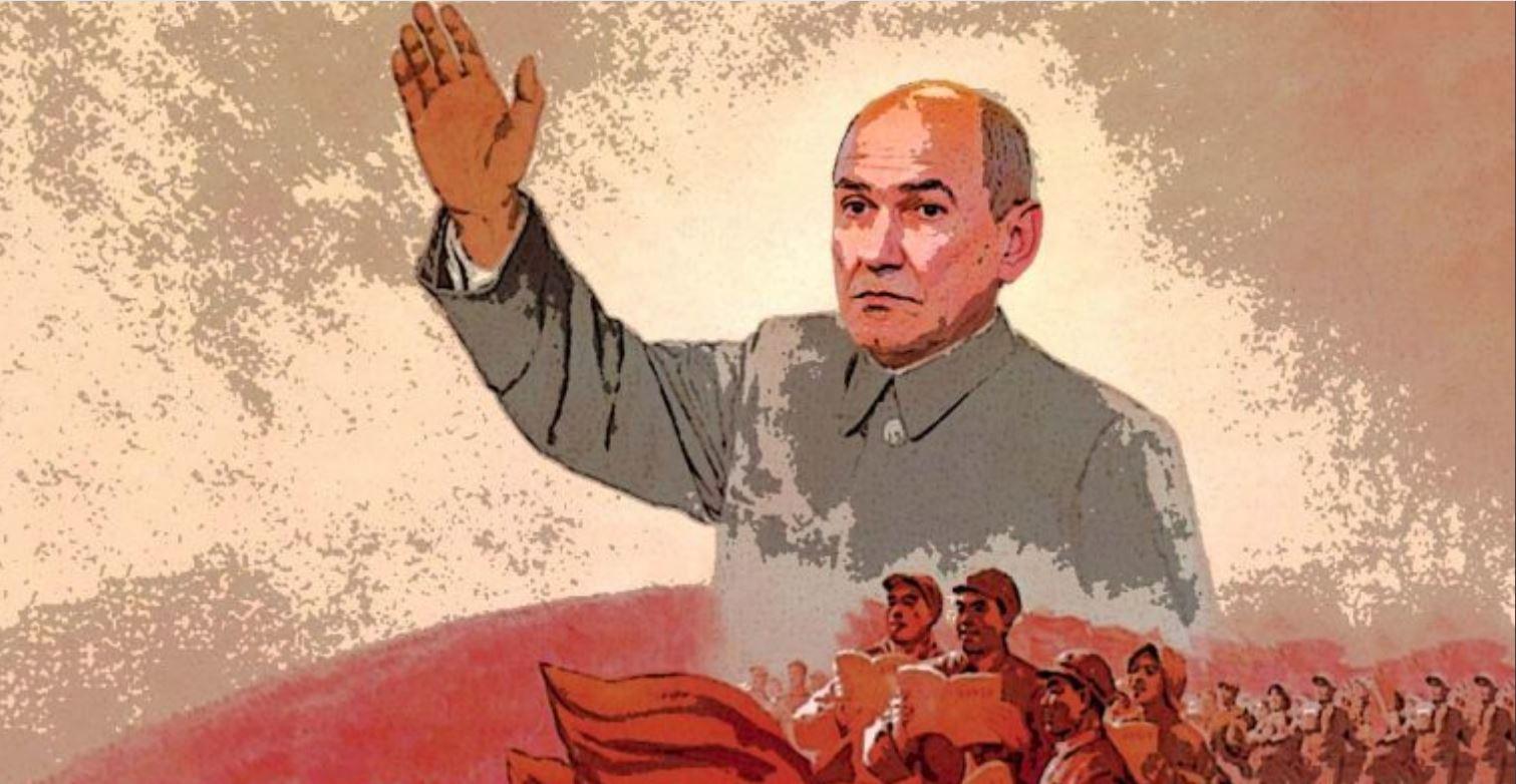 Komunizem mu je vedno na jeziku: premier Janez Janša, nekoč vnet komunist. Vir: Twitter