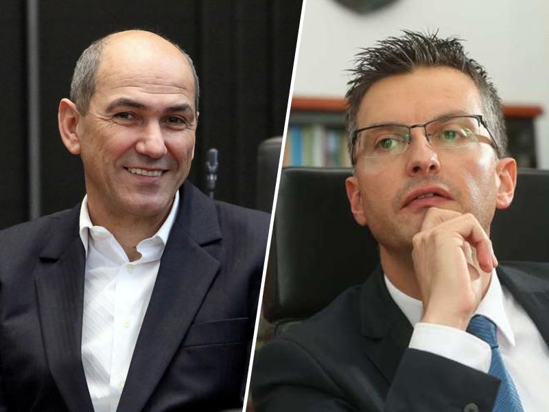 Janez Janša in Marjan Šarec Vir:Pixell