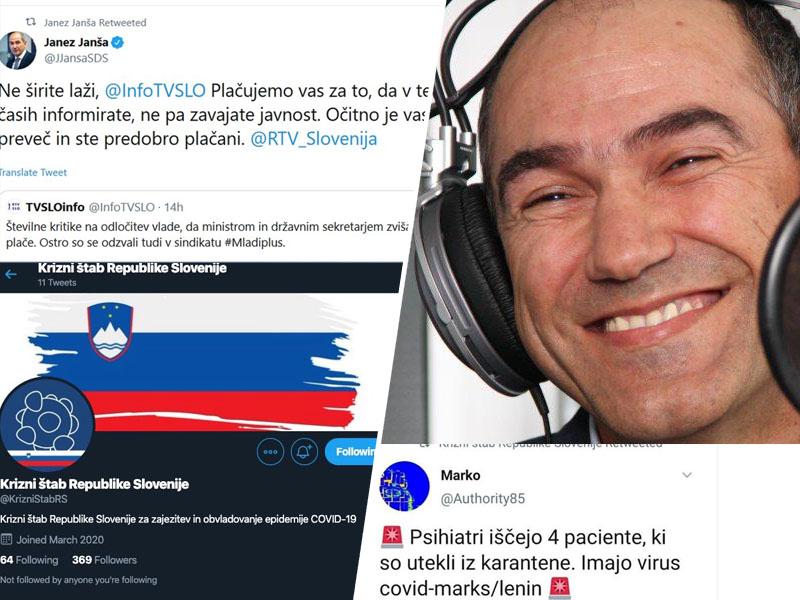 Janša, novinarji in tviti