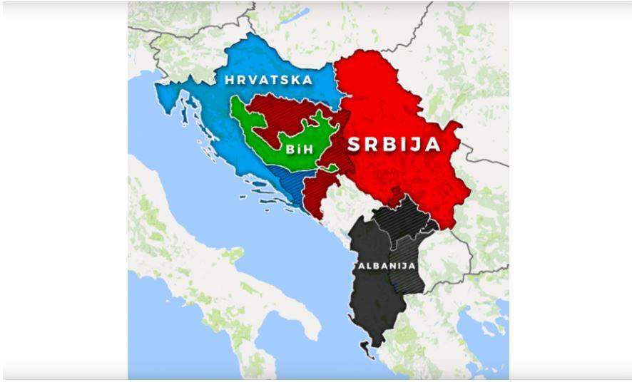 Janšina karta Balkana, ki jo Janša sicer - zanika...