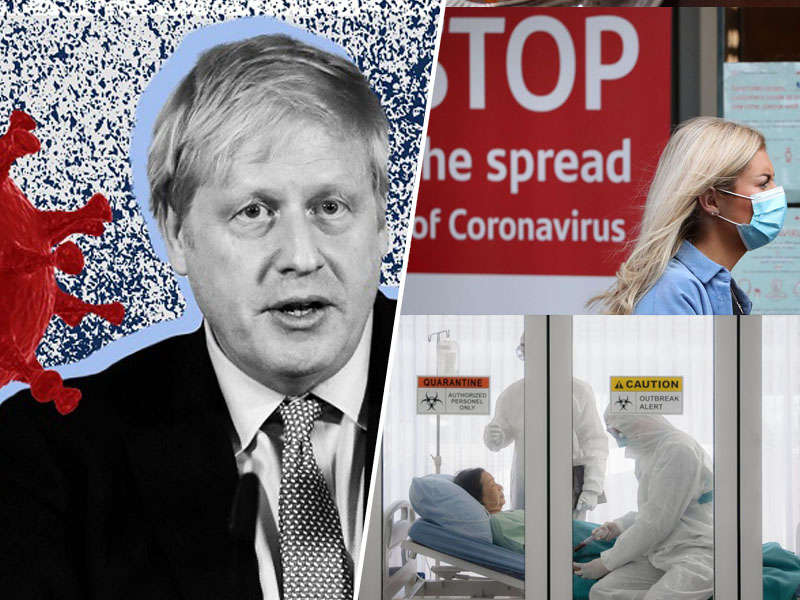 Johnson opozarja na nov sev koronavirusa