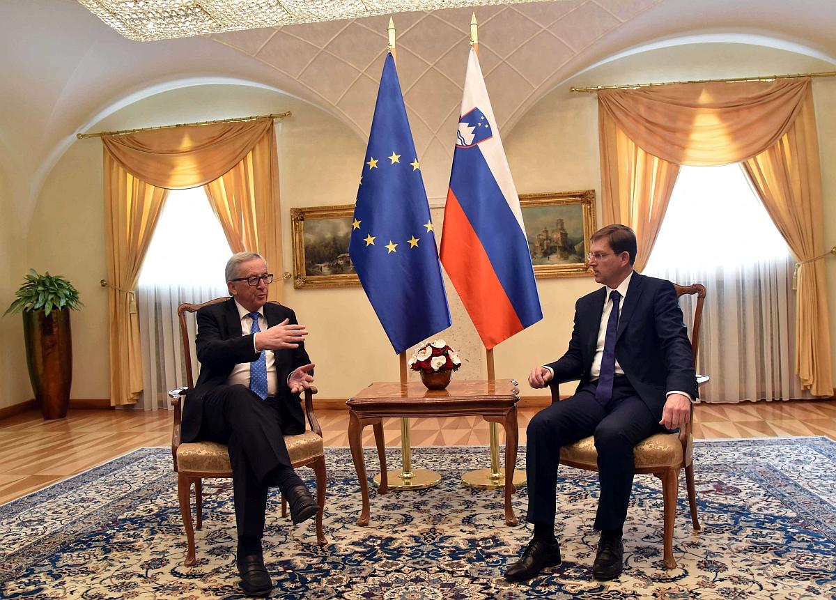 Jean Claude Juncker in Miro Cerar
