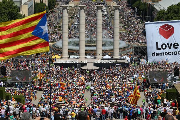 Demonstracije v Kataloniji. Vir: You Tube