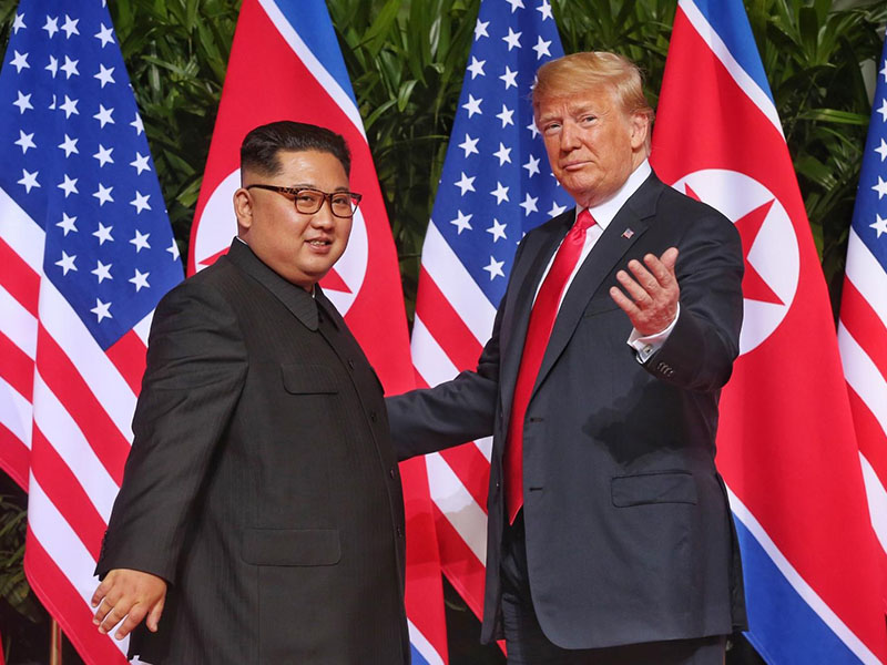 Kim Jong un in Donald Trump