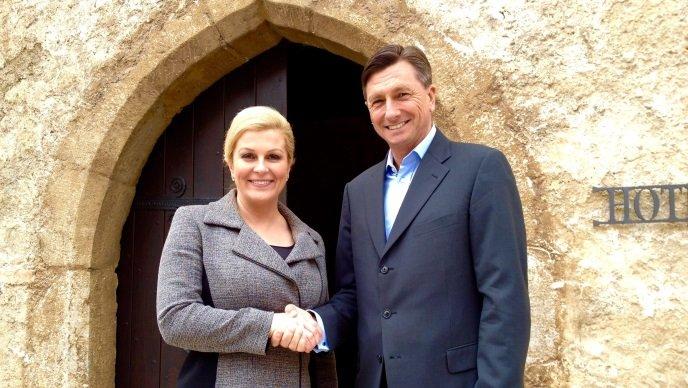 Kolinda Grabar Kitarović in Borut Pahor