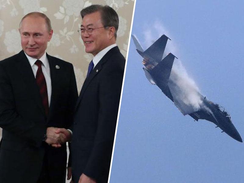 Letalo F-15, južnokorejski in ruski predsednik
