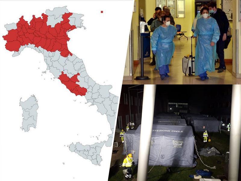 Koronavirus - širjenje, Italija