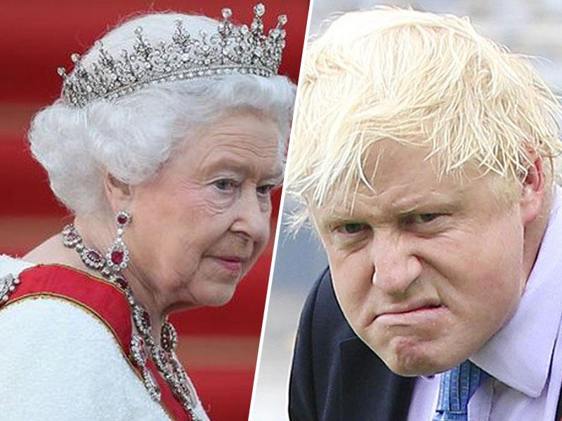 Kraljica Elizabeta II in Boris Johnson