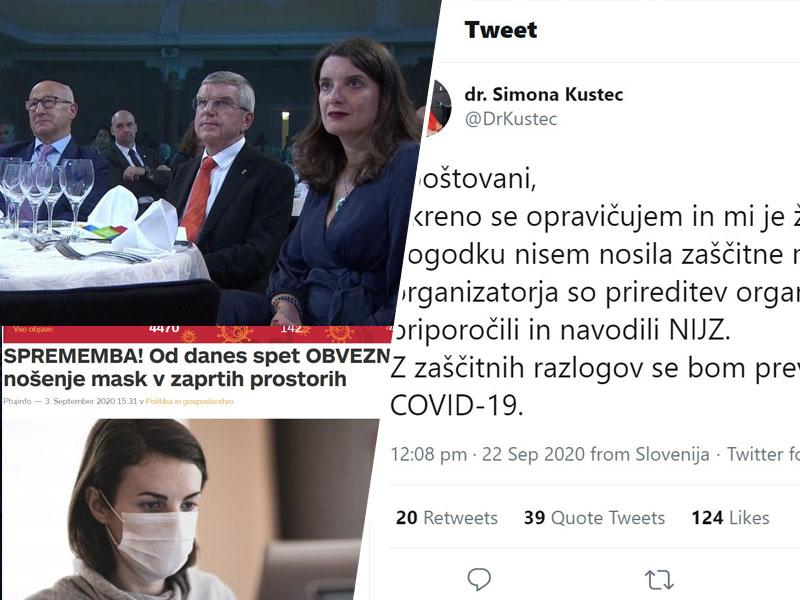 Ministrica Kustec in maske