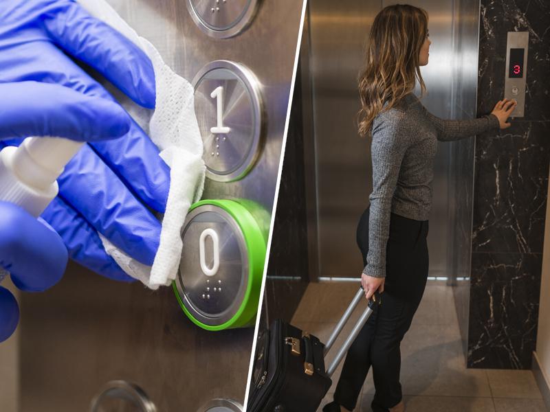 Koronavirus se lahko prenaša tudi v dvigalu