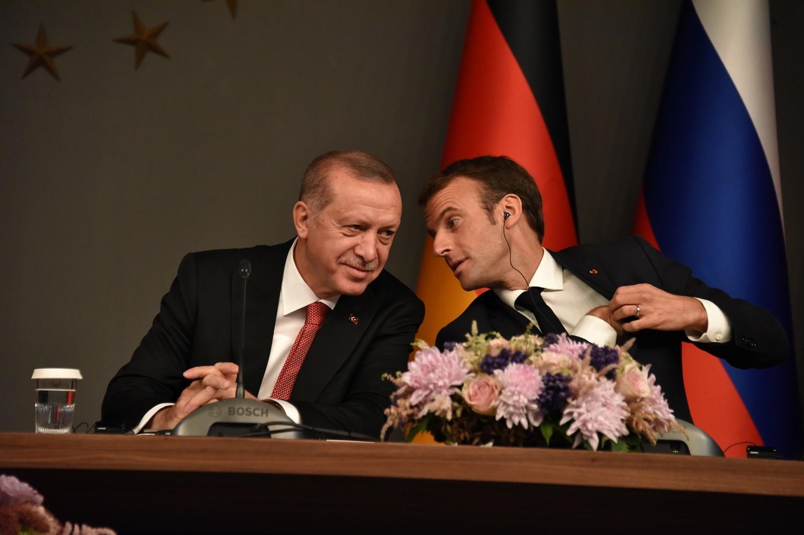 Macron in Erdogan