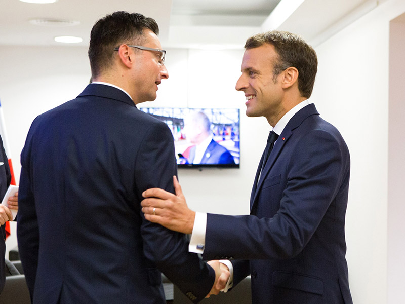Šarec in Macron Vir: Pixell