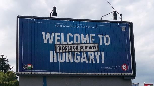 Madžarska - plakat, protesti