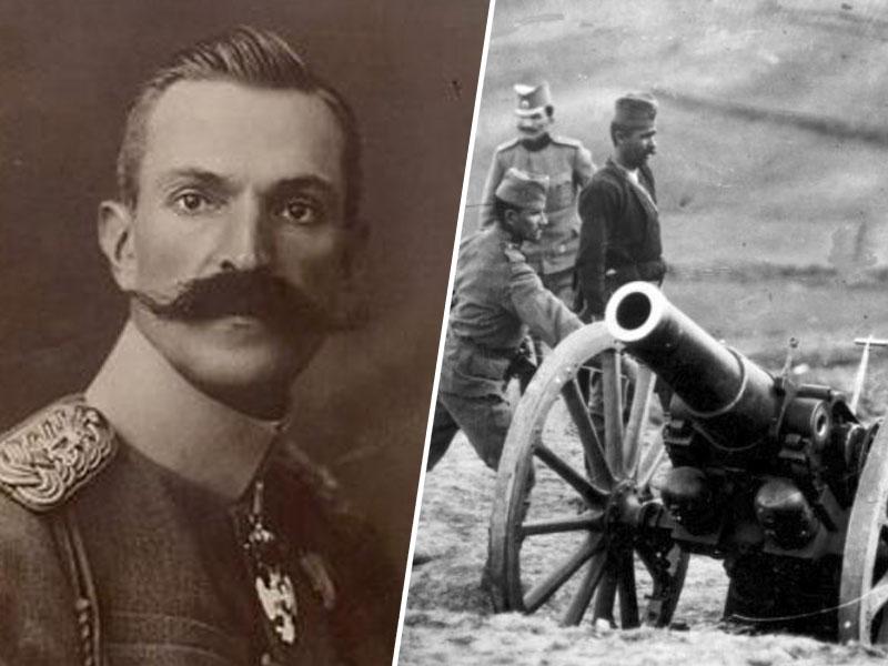 Maister in topničarji srbske vojske