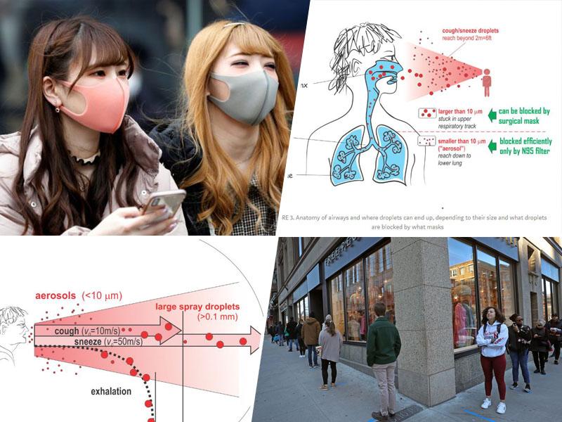 Maske imajo velik vpliv na širjenje virusa s kašljanjem in govorjenjem