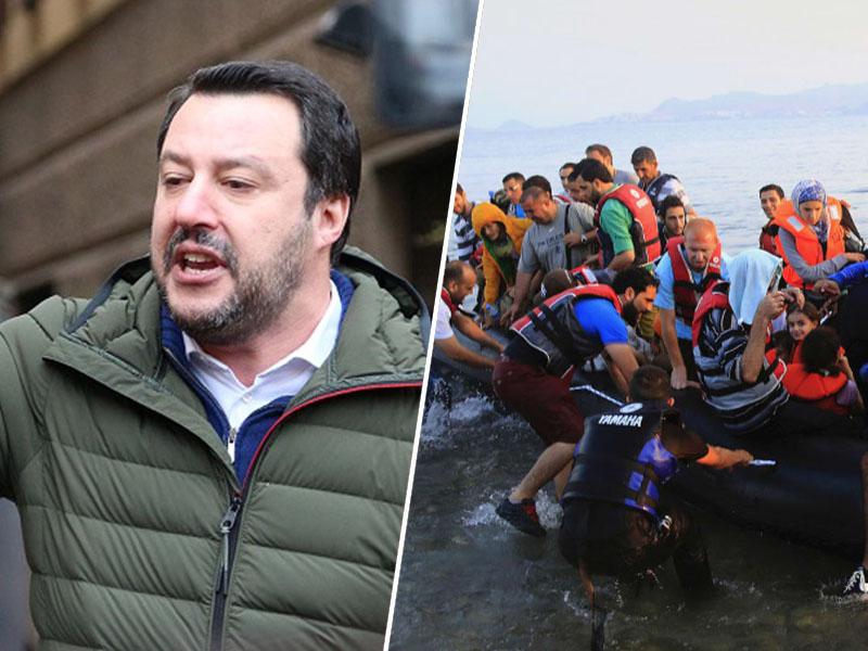 Matteo Salvini in migranti