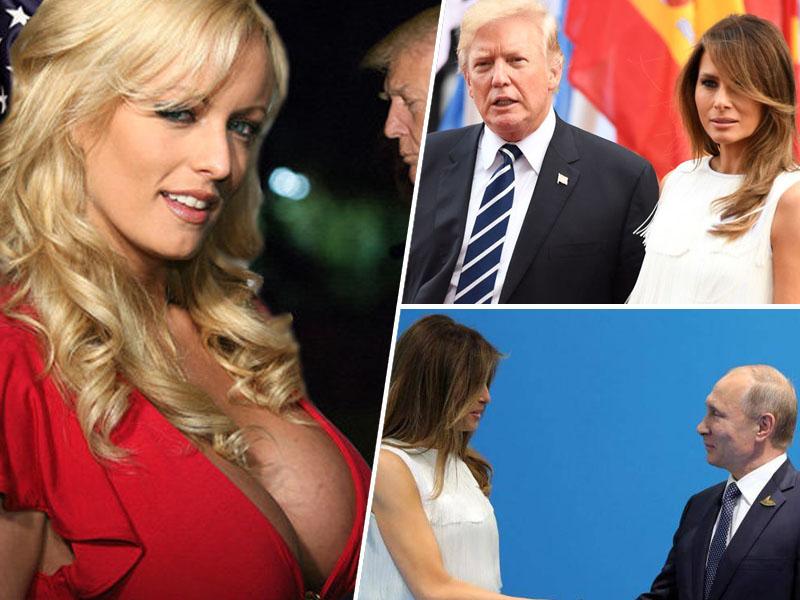 Melani, Daniels, Trump, Putin