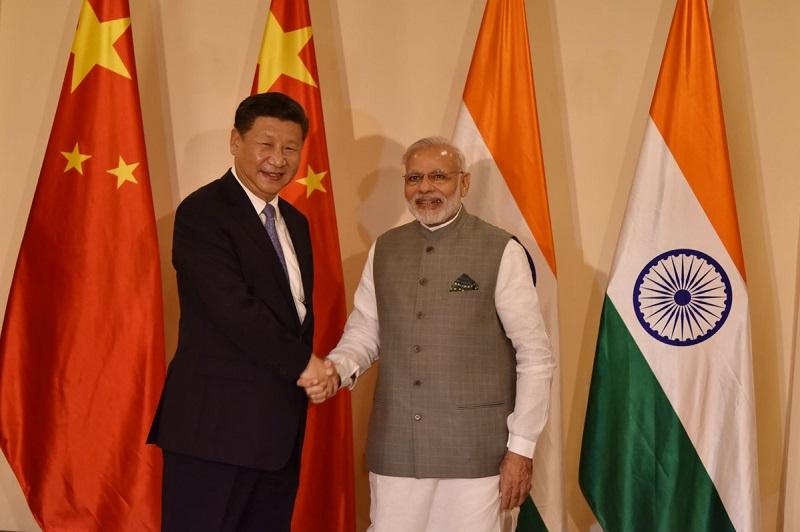 Kitajski predsednik Xi Jinping in indijski premier Narendra Modi, foto: Wikimedijaedia Commons