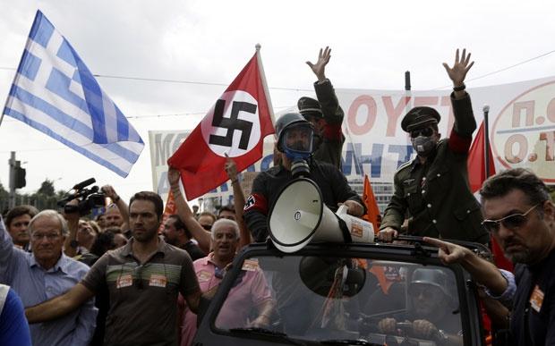 Grčija - protesti proti Nemcem   Vir:Tanjug