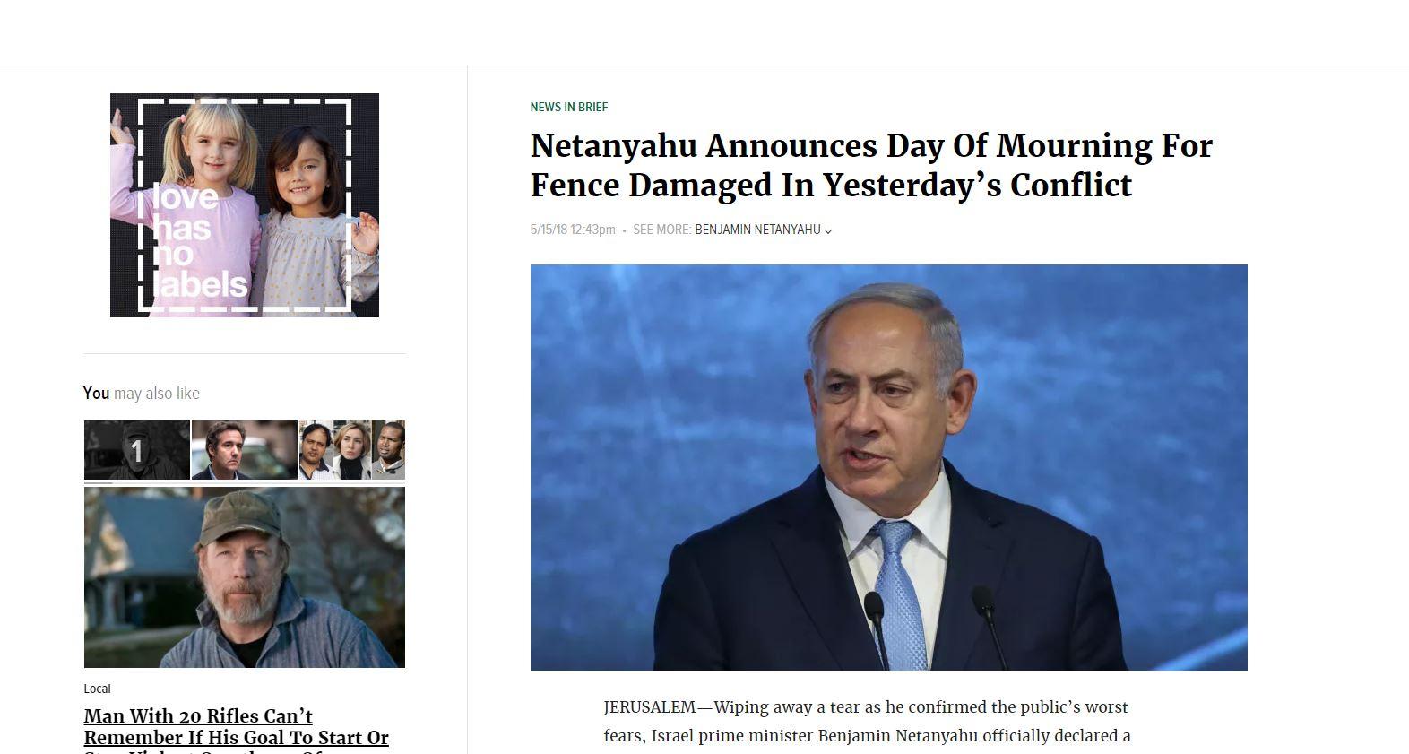 Netanjahu - Onion