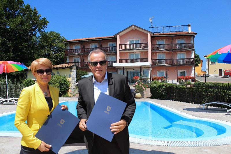 Aleksandra Pivec in hotel Grahor