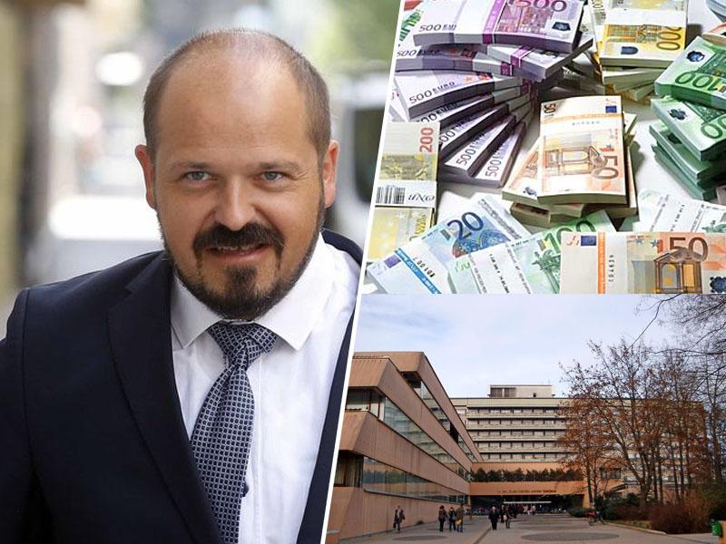 Janez Poklukar, direktor UKC in denar