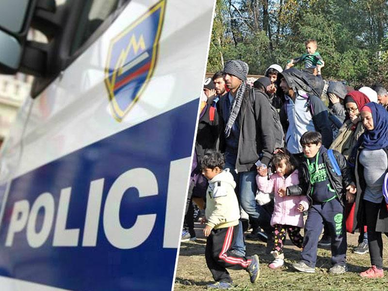 Policija in begunci