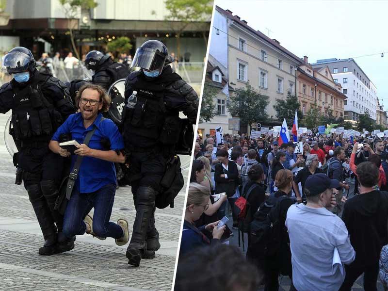 Policija in protestnik - osmi krog