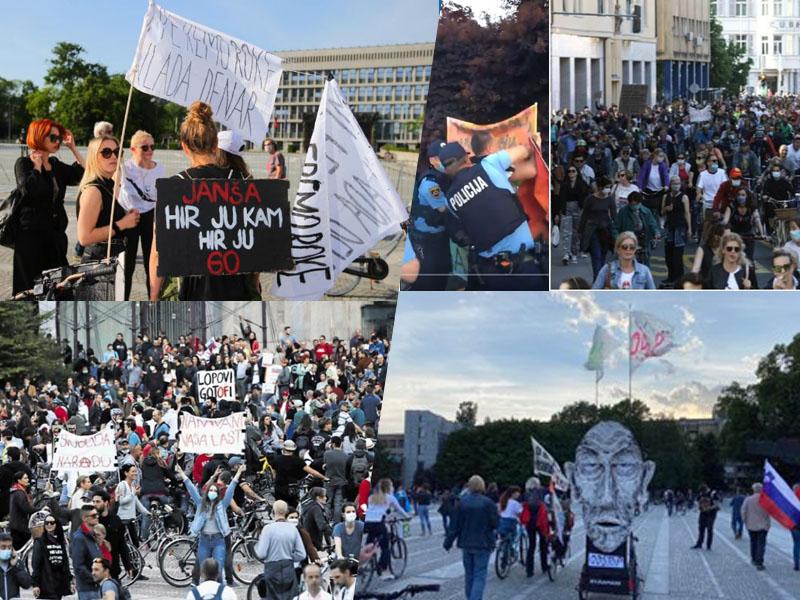 Protesti in intervencija policije v Ljubljani