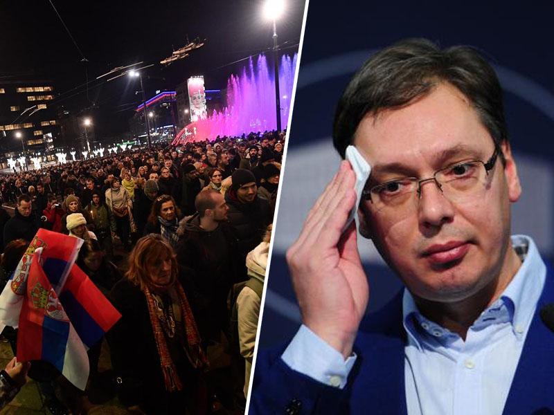 Vučić - protesti