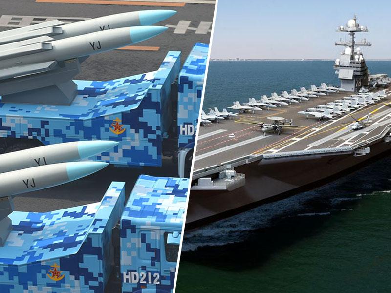 Kitajske protiladijske rakete in ameriška letalonosilka Gerald Ford