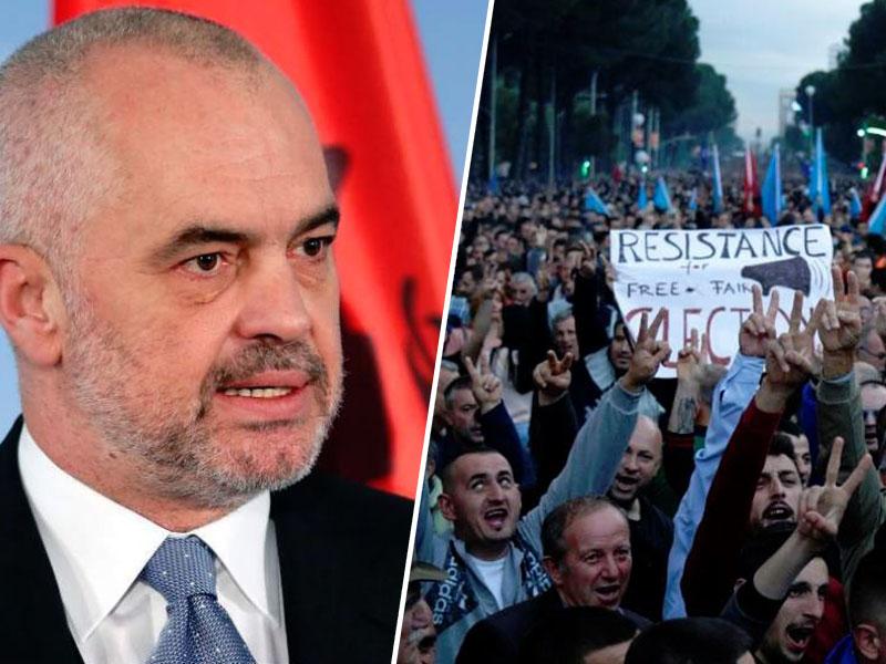 Edi Rama in protesti, Albanija