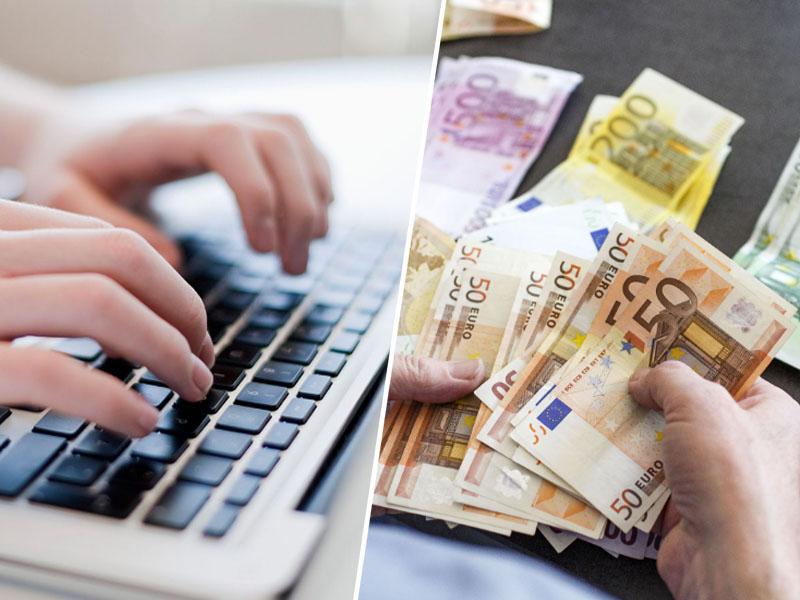 Računalnik, euro denar