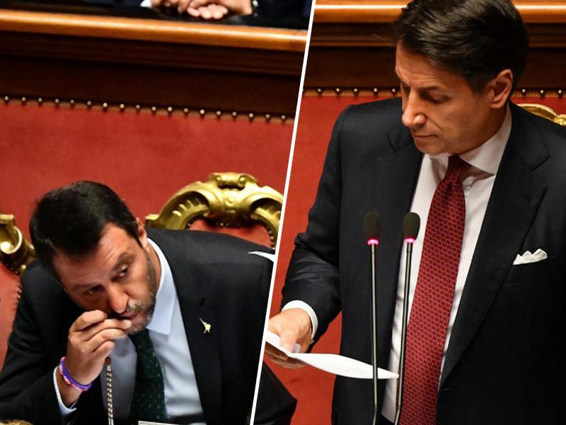 Salvini in Conte
