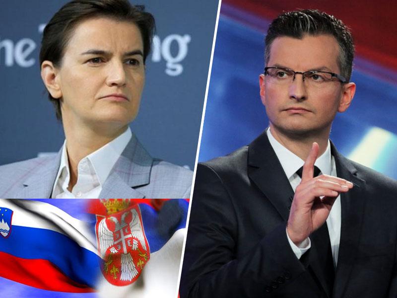 Marjan Šarec in Ana Brnabić, Srbija in Slovenija