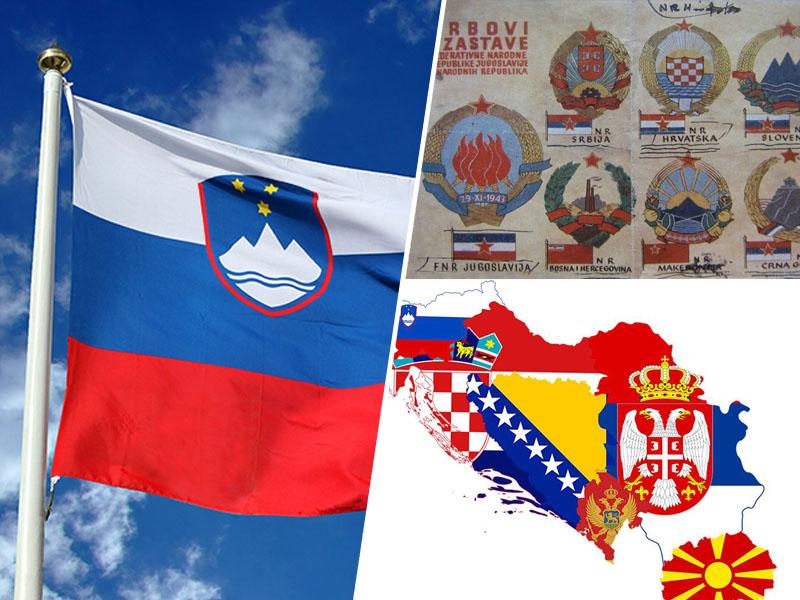 Slovenska zastava in zastave republik SFRJ