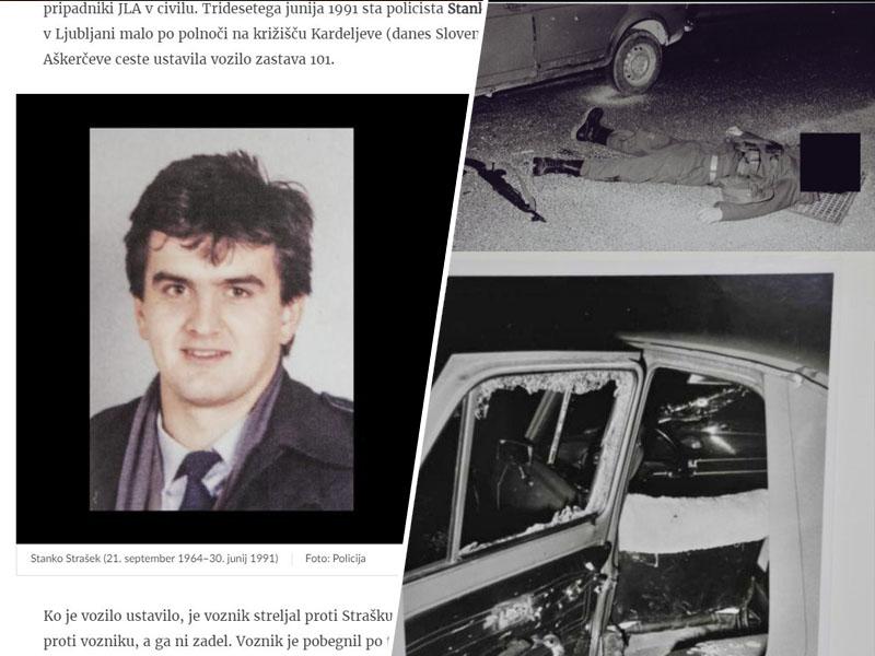 """Ubita teritorialca, desnega sta Janša in Bavčar predstavila kot pripadnika JLA """"v civilu""""."""
