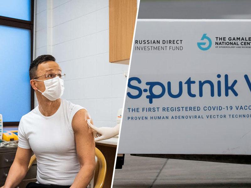 Szijarto med cepljenjem s cepivom Sputnik V : Vir: Facebook