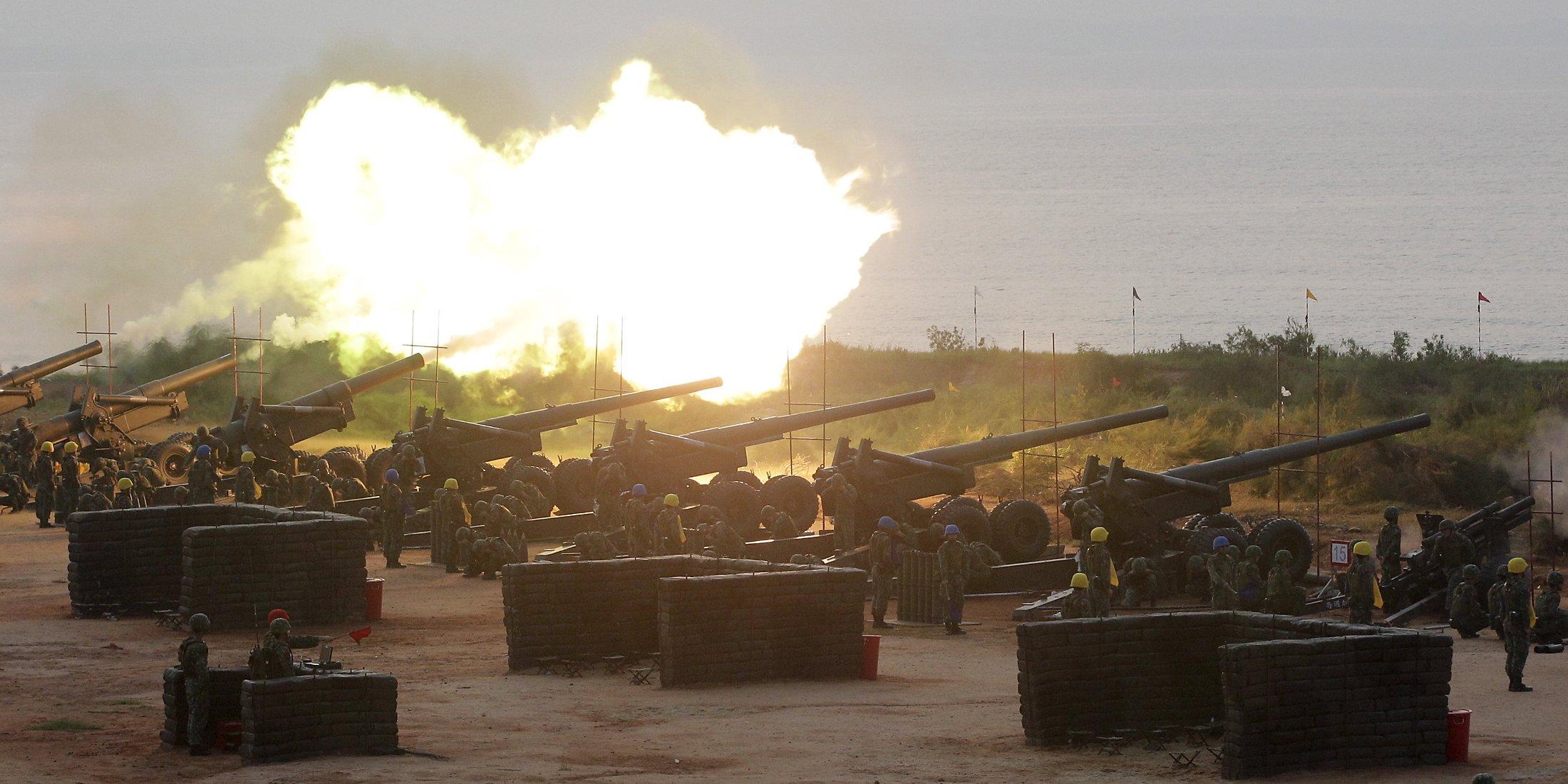 Tajvanski topovi - vojaška vaja na Tajvanu