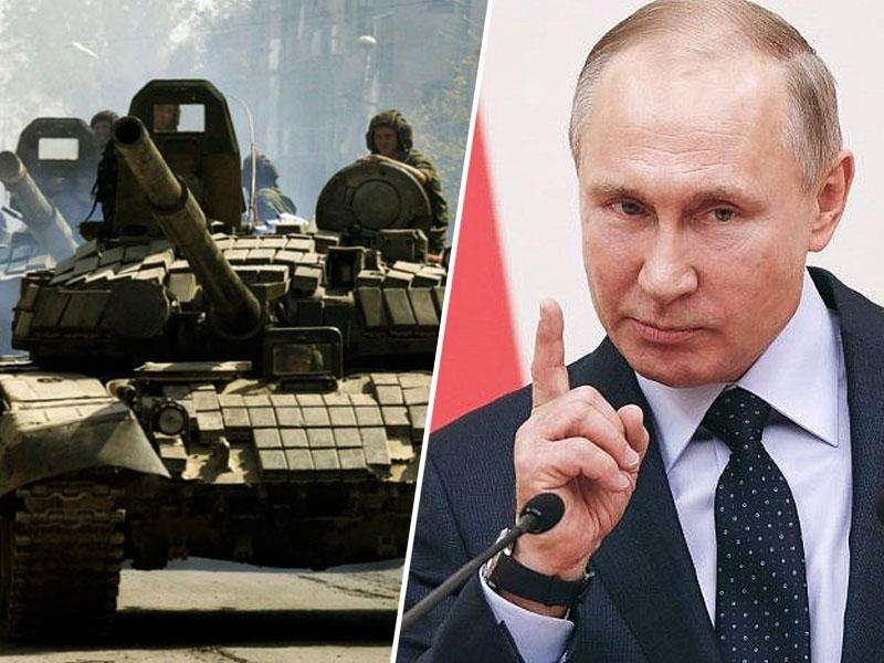Putin in tanki
