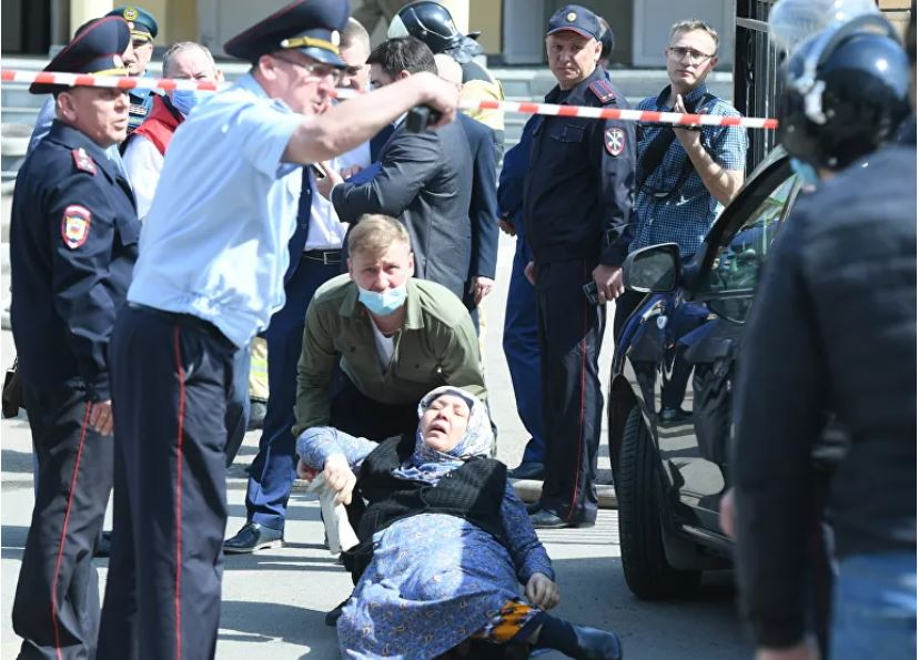 Napad v Tatarstanu  Vir: Twitter