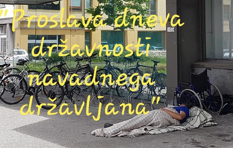 """Tako je dan državnosti proslavil """"navaden državljan."""" Vir: Janez Temlin"""